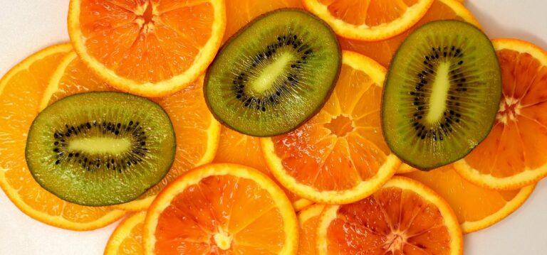 orange, kiwi, yummy